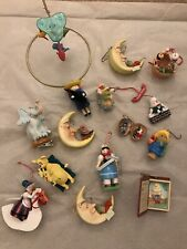 Lot Of 15 Christmas Ornaments Nursery Rhymes Hallmark And Others Vintage