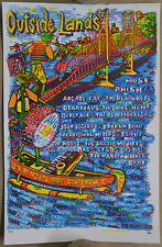 Phish Outside Lands 2011 Jim Pollock Poster San Francisco Black Keys Shins Muse