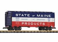 PIKO G SCALE BAR BOXCAR, STATE OF MAINE | BN | 38859