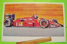 Huge ca 1988 Gerhard Berger Ferrari - Fiat Grand Prix Car Mark Palumbo Art Print
