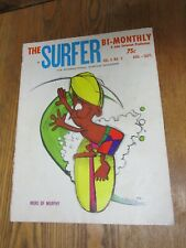 SURFER MAGAZINE John Severson Vol-3 No-3 MURPHY Cover By Rick Griffin 1962 RARE