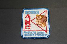 VINTAGE AJBC American Junior Bowling Congress Member Patch
