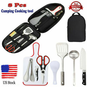 Kitchen Utensil Case Camping Picnics Retro Father/'s Day Gifts Food Prep Implements Harvest Gold Camping FREE USA Canadian Shipping