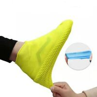Elastic Latex Silicone Waterproof Shoe Covers Cycling Rain Reusable Overshoes~