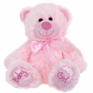 "NEW 8"" BABY GIRL PINK TEDDY BEAR PLUSH SOFT TOY"