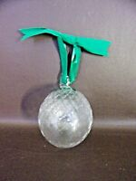 Vintage Glass Ornament Diamond Pattern With Holly Berries (Cat.#12T046)