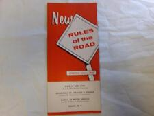 "New York ""Rules of the Road"" Brochure 1958 Driving Rules for Motorists LN"