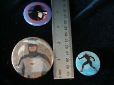 Vintage 1980's BATMAN DAREDEVIL VAMPIRE HUNTER D 3 button pin back lot