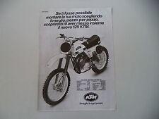 advertising Pubblicità 1980 MOTO KTM MX 125