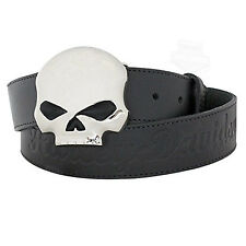 Harley-Davidson Women's Belt, Classic Willie G. Skull Buckle