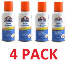 (4 Pack) Elmer's Multi-Purpose Aerosol Spray Adhesive 4oz Can, Acid Free NEW
