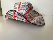 Budweiser Cowboy, Cowgirl Hat Beer Box, Carton Novelty xl