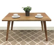 Timber Dining Table, Acacia Wood, L145 x W80cm, Light Timber, Oora
