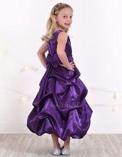 Purple Cadbury Flower Girl Dress Holiday Wedding Pageant 2T 4T 6X 8 10 12 14 16