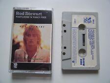 ROD STEWART FOOT LOOSE & FANCY FREE CASSETTE TAPE 1977 WHITE LABEL WARNER RIVA