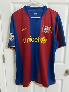 2007 FC Barcelona UCL Match worn Lionel Messi Jersey Player issue Argentina