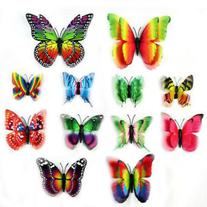 12pcs/lot PVC 3D DIY Butterfly Wall Stickers Wall Decals Home Living Room Decor