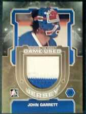 JOHN GARRETT  QUEBEC NORDIQUES 2-COLOR SEAMED PIECE OF A GAME-USED JERSEY/10  SP