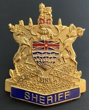 BC Sheriffs Hat Cap Badge Pin Police Law Enforcement Officer British Columbia