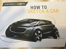 2017 CHEVROLET MOTOR CAR SALES BROCHURE PAMPHLET BOOK HOW TO SKETCH A CAR