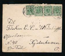 GERMANY RENDSBURG to DENMARK 1892 ENVELOPE