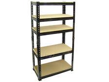Blackspur 1.5m Boltless 5 Tier Shelving Shelf Unit Home Garage Office