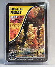 WOODLAND SCENICS FINE LEAF FOLIAGE FALL MIX O HO N GAUGE train shrubs 1135 NEW