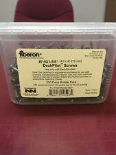 "Fiberon #7-9X1 - 5/8"" DeckPilot Screws 350 Piece Builder Pack New"
