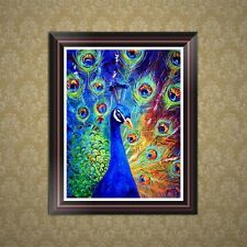 DIY Peacock 5D Diamond Embroidery Painting Cross Stitch Art Craft Home Decor