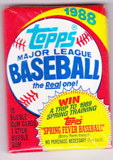 Topps Baseball Wax Pack--1988--SEALED NEW--FREE SHIPPING