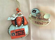 Christmas Auburn University War Eagle Snowman 2003 Baldwin Brass Tiger Ornaments