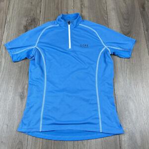 Gore Bike Wear Women's Short Sleeve Cycling Jersey Size L Large Blue