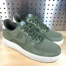 New Men's Nike Air Force 1 Low Suede Medium Olive Green AO3835-200 Size 9 RARE