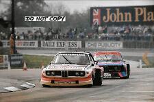 9x6 Photograph, Fitzpatrick / Walkinshaw BMW 3.5 CSL  Silverstone 6hrs 1976