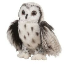 "Douglas Crescent SILVER OWL 10"" Plush Stuffed Bird Animal Cuddle Toy NEW"