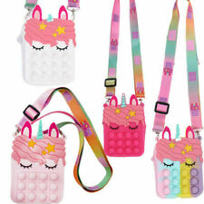 Unic-orn Popper Bubble Wallet Handbag Dimple Messenger Bag Fidget Toy Antistress