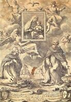 SANTA MARIA INTERCEDITRICE. GRAVURE. PAOLO PILAIA, GRAVEUR. ROME. ITALIE. 1739