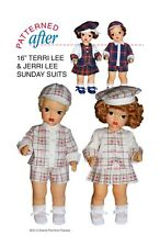 """Plaid Sunday Suits For Jerri & Terri - Clothing Pattern For 16"""" Terri Lee Doll"""