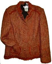CHICO'S FALLEN FOR FALL SARAIH JACKET RED OCHRE NWT $129 CHICOS SIZE 2 = 12/14