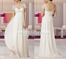 New Chiffon Maternity Pregnancy Wedding Dress Skirt Bridal Gown Prom Custom Size