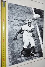 PHOTO BASEBALL 1955 JACKIE ROBINSON DODGERS BROOKLYN USA