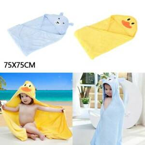 Large Soft Cotton Hooded Baby Boy Girl Bath Towel Wrap Toddler Kids Bathrobe
