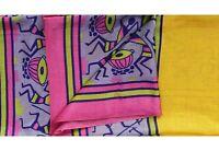 Vintage Saree Seda Envoltura Sarong Hecho a Mano Estampado Étnicos Tela Costura