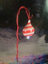 1 Candy Cane LightShow Kaleidoscope Projection Pathway Stake w Shepherd's Hook