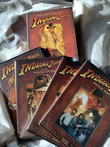 Indiana Jones Collection (DVD, 2008, 4-Disc Set), Like New, FREE POSTAGE