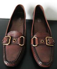 jolies Chaussures GEOX ttbé Cuir marron 38 , tasche , scarpa ,shoes