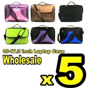 """5x New 17.3"""" 17"""" 16.4"""" 15.6"""" Inch Laptop Notebook carrying briefcase bag case"""