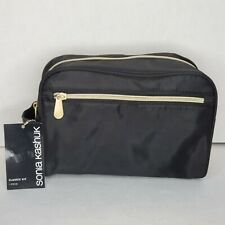 Sonia Kashuk Black Classic Travel Makeup Bag, New with Tags