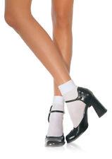 White Nylon Cuff Anklet, Ankle Socks, School Girl, Fancy Dress, Pop Socks,