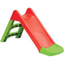 Kids Slide Outdoor Garden Plastic Children Toys Indoor Playground Play Red/Green